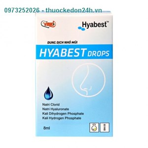 HYABEST DROPS - Dung Dịch Nhỏ Mũi
