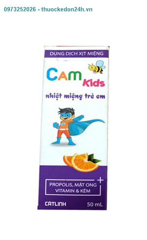 Camkids – Dung dịch xịt Miệng